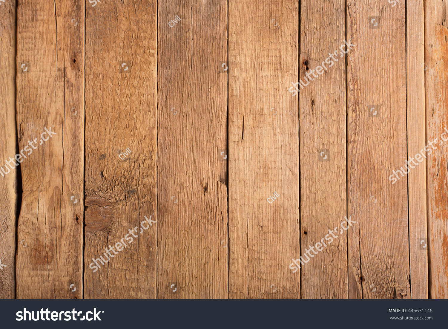 Wooden rustic background. Old boards. Can be used as space for your text or image. top view