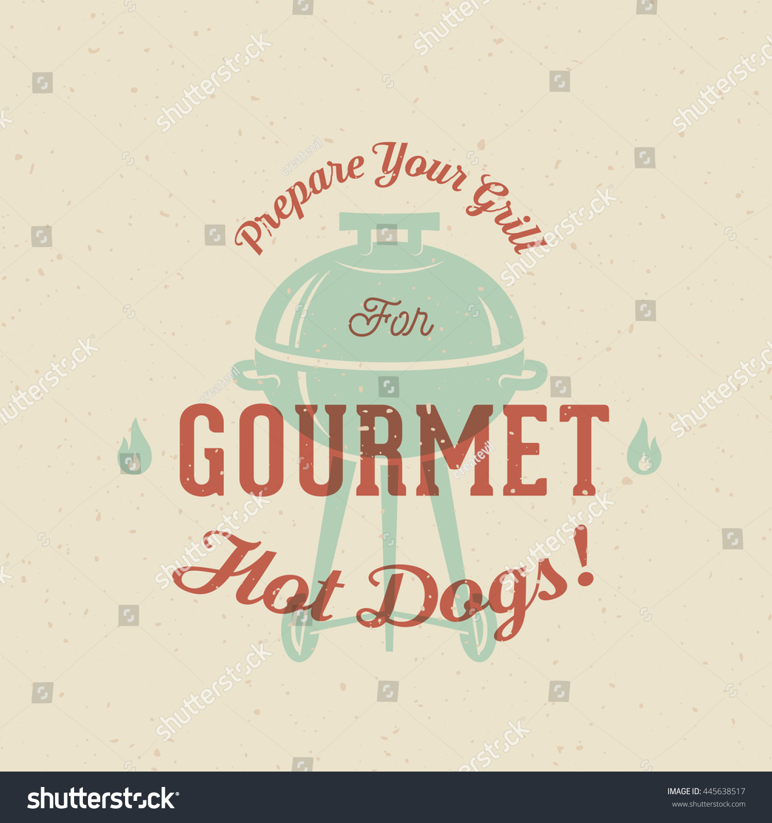 Gourmet Grill Hot Dogs Vintage Vector Stock Vector Royalty Free
