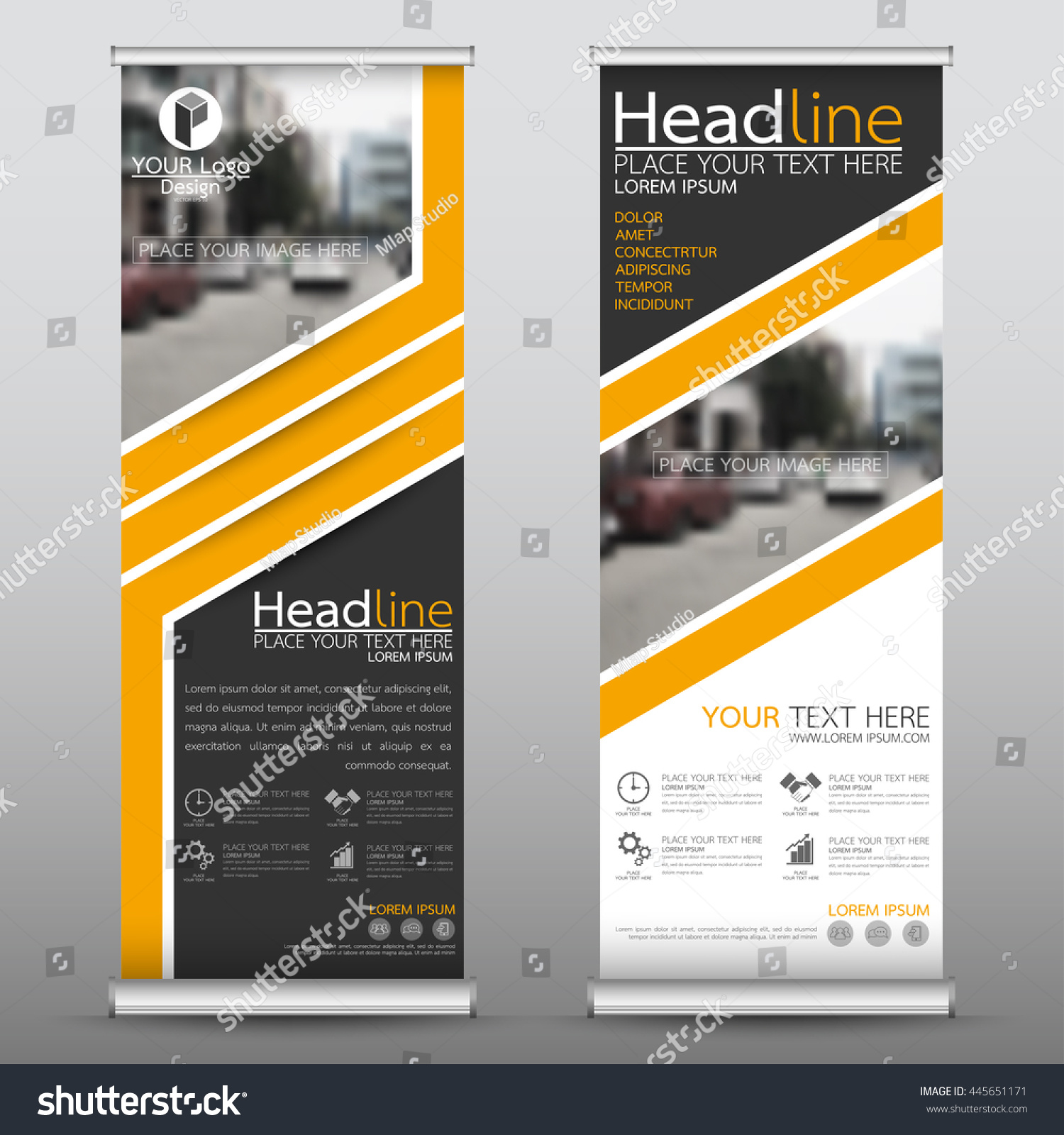 Green roll up business brochure flyer banner design vertical template - Yellow Roll Up Business Brochure Flyer Banner Design Vertical Template Vector Cover Presentation Abstract Geometric