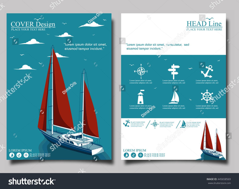 Yacht club Flyer design template vector