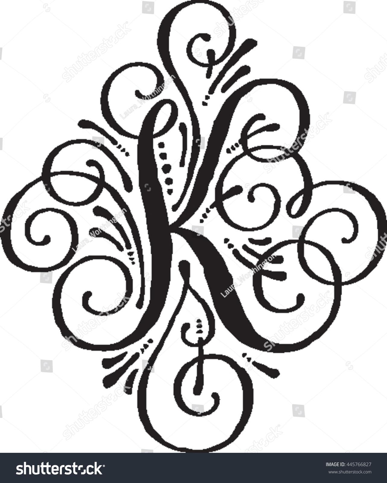 Letter K Monogram Stock Vector (Royalty Free) 445766827   Shutterstock