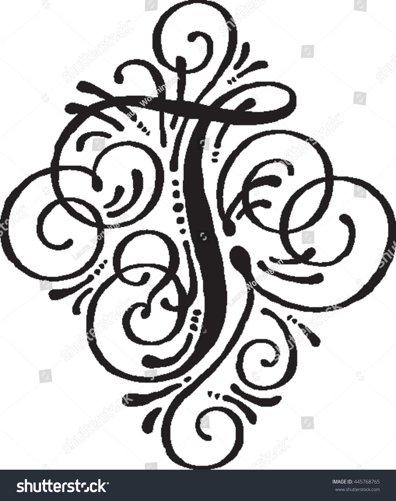 Letter T Monogram Stock Vector 445768765