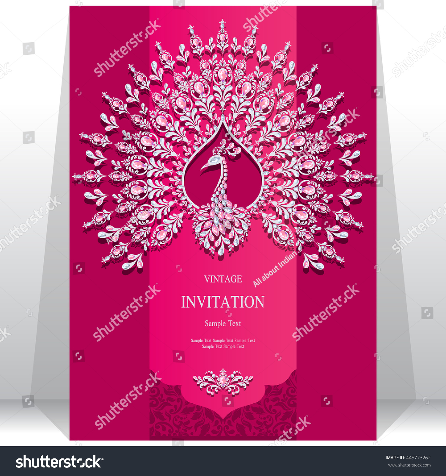 Wedding invitation or card with abstract background Islam Arabic Indian Dubai