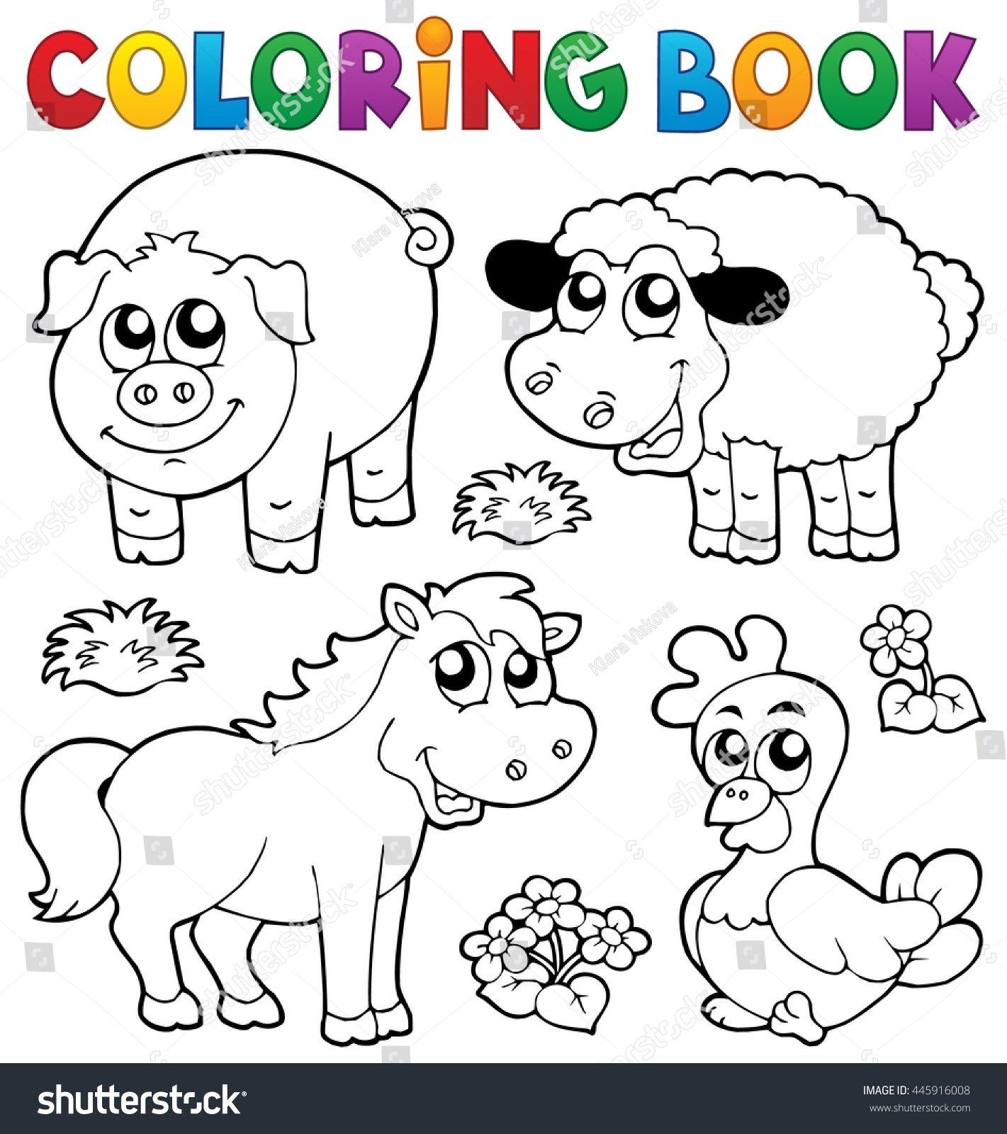 Coloring Book With Farm Animals 5