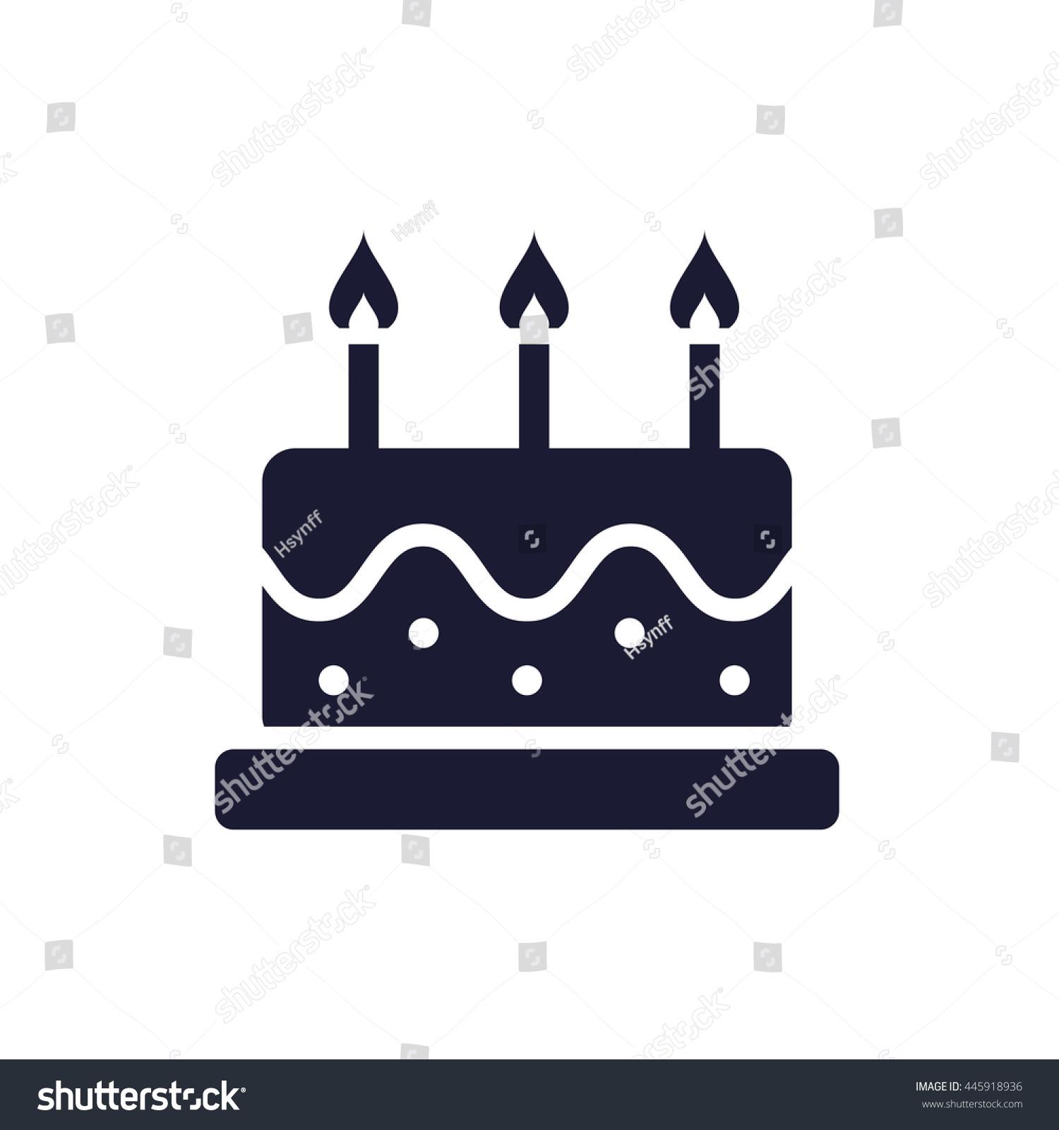 Birthday cake icon stock vector 445918936 shutterstock birthday cake icon biocorpaavc