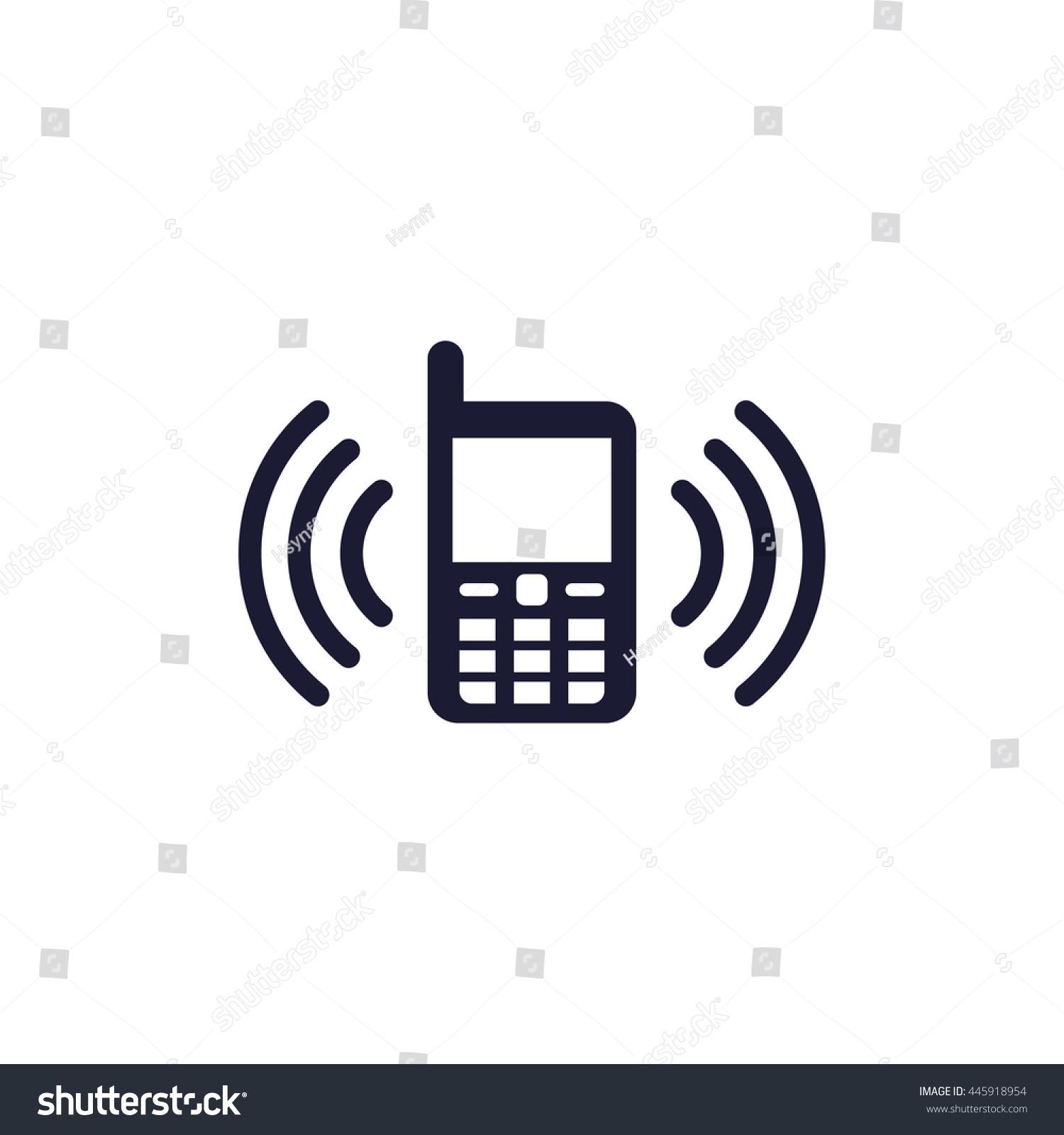 Phone Vibration Icon Stock Vector 445918954 - Shutterstock