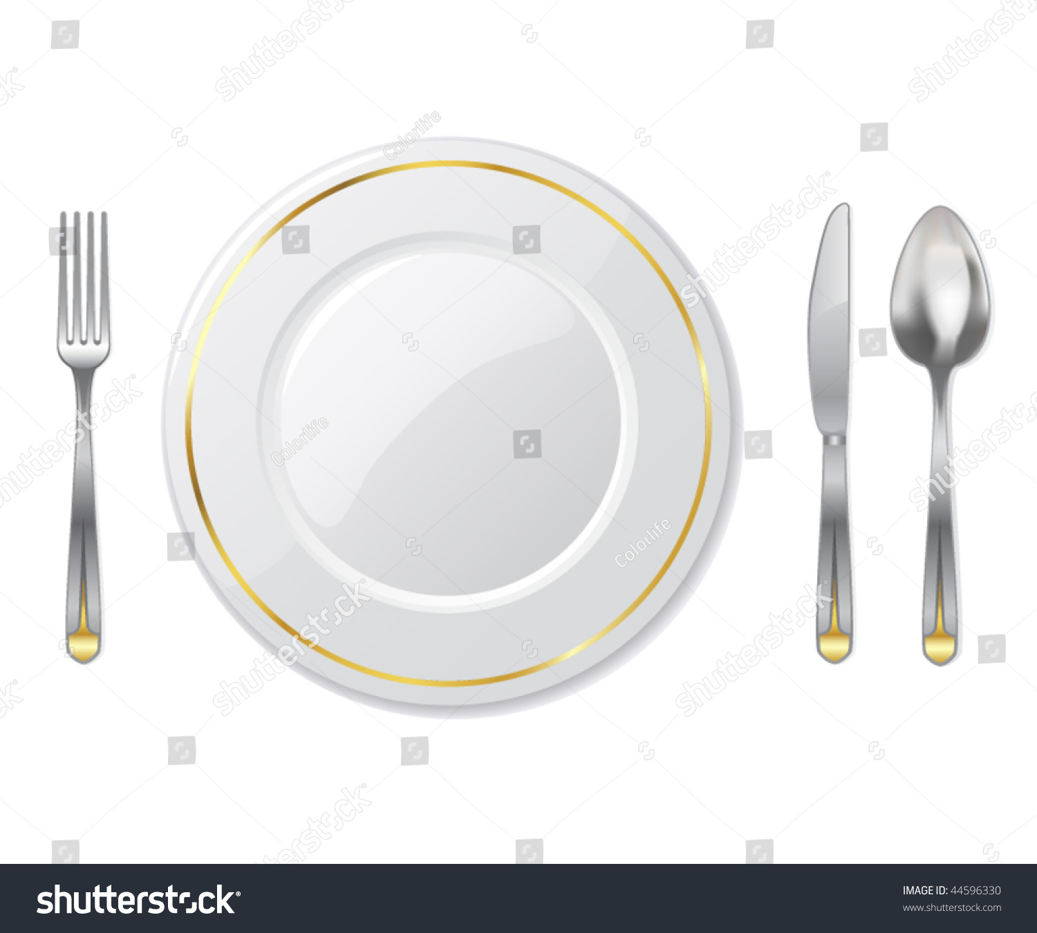 Place setting vector illustration 44596330 shutterstock for Place setting images