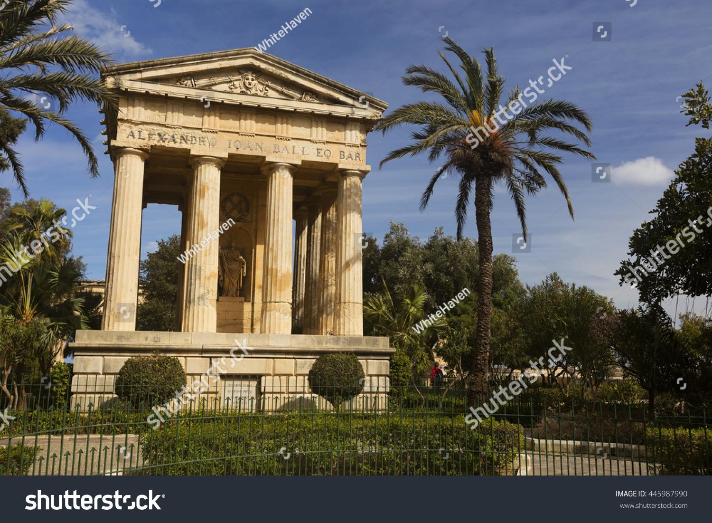 Lower Barrakka Gardens Valetta Stock Photo (Royalty Free) 445987990 ...