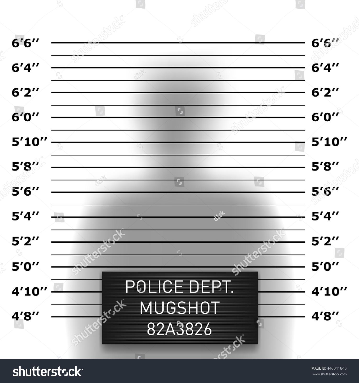 Police Mugshot Template Stock Vector 446041840 - Shutterstock