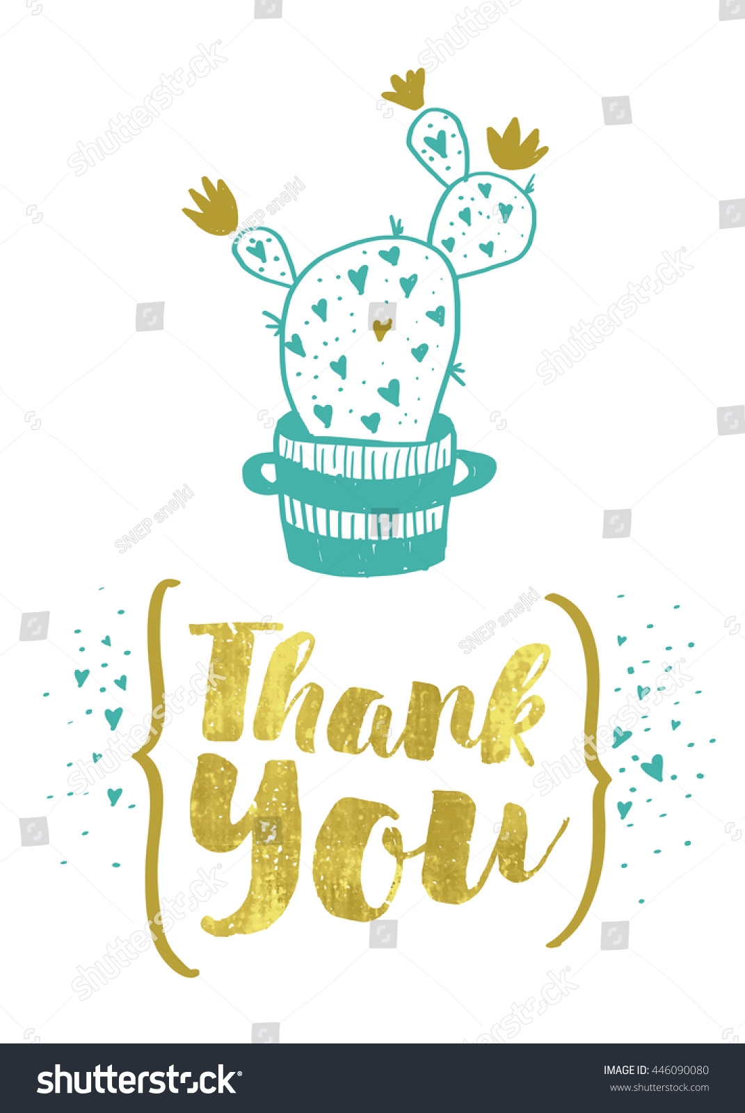 Thank You Greetings Card Stock Vector 446090080 Shutterstock
