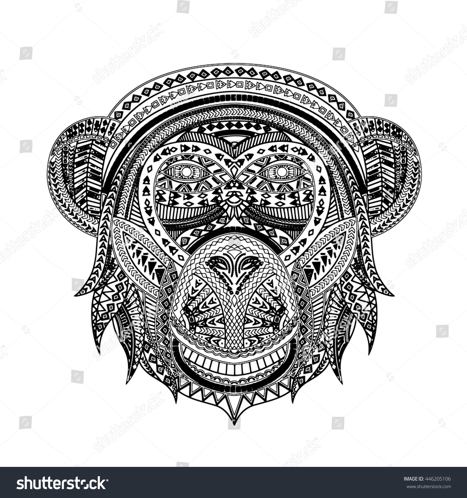 graphical tutankhamen isolated on black background vector
