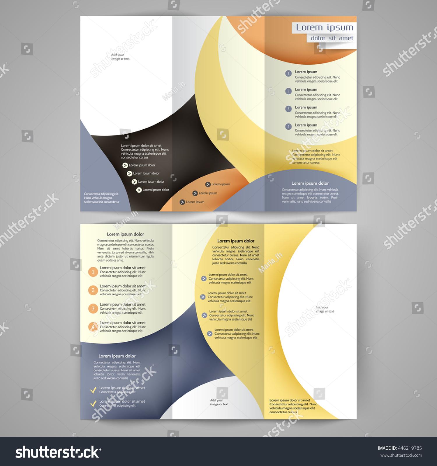 color tri fold business brochure design template brochure layout