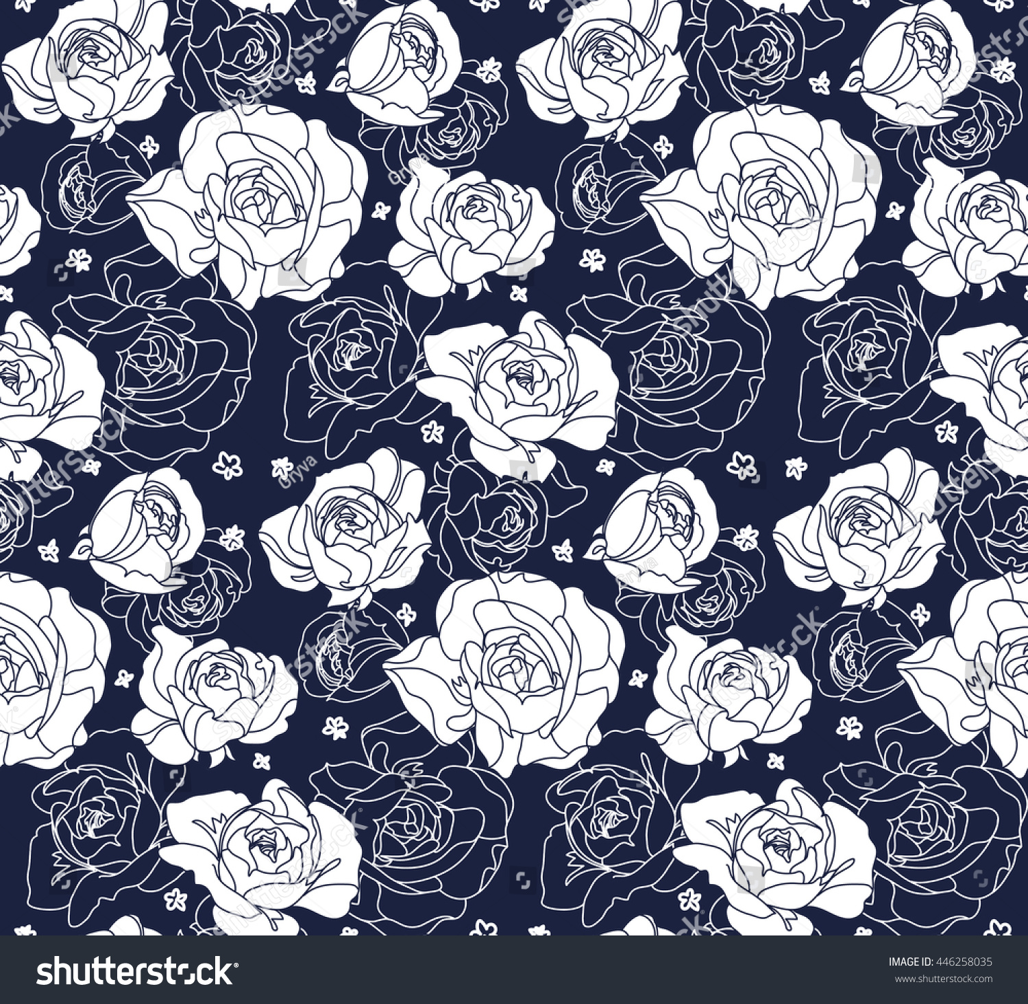 Seamless Floral Pattern Pattern Roses Modern Stock Vector Royalty
