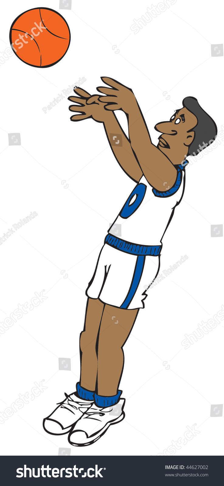 cartoon basketball player stock vector 44627002 shutterstock Baseball Pitcher Clip Art Black and White Baseball Player Clip Art