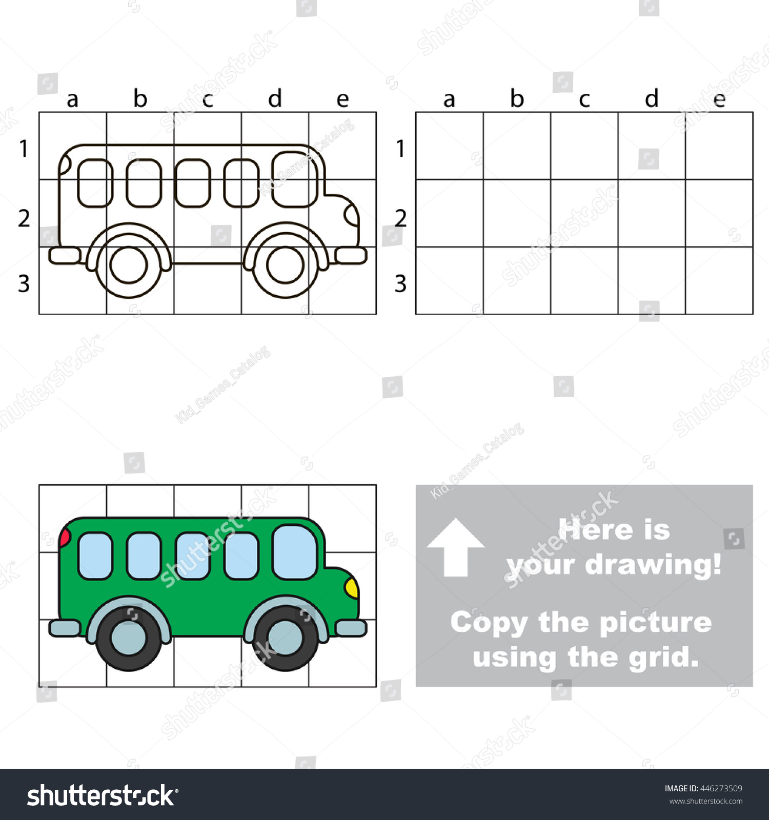 Copy Picture Using Grid Lines Easy Stock Vector Royalty Free