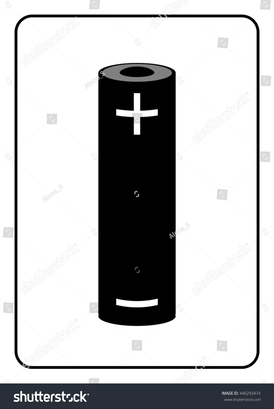 Battery icon black sign isolated on stock illustration 446293474 black sign isolated on white background symbol of energy electricity biocorpaavc Gallery