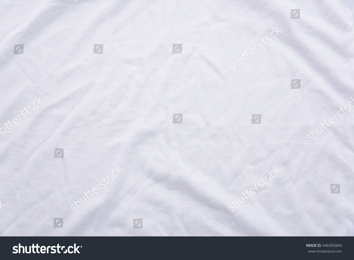 white bed sheet texture. Close Up Of Wrinkled White Color Fabric Bed Sheet Texture Background. D