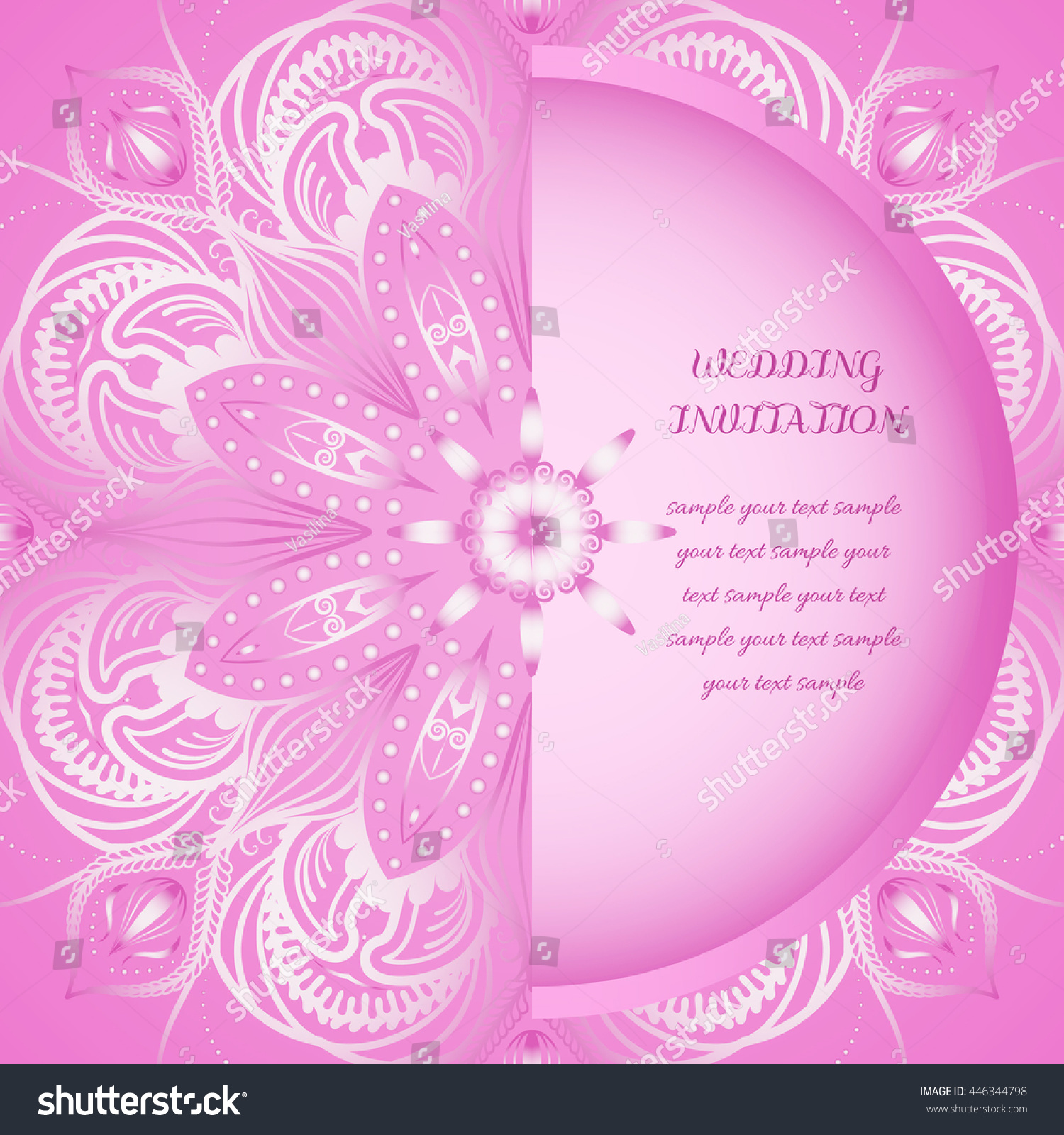 Wedding card invitation round ornamental pattern stock vector wedding card or invitation round ornamental pattern eps 10 contains transparency stopboris Images