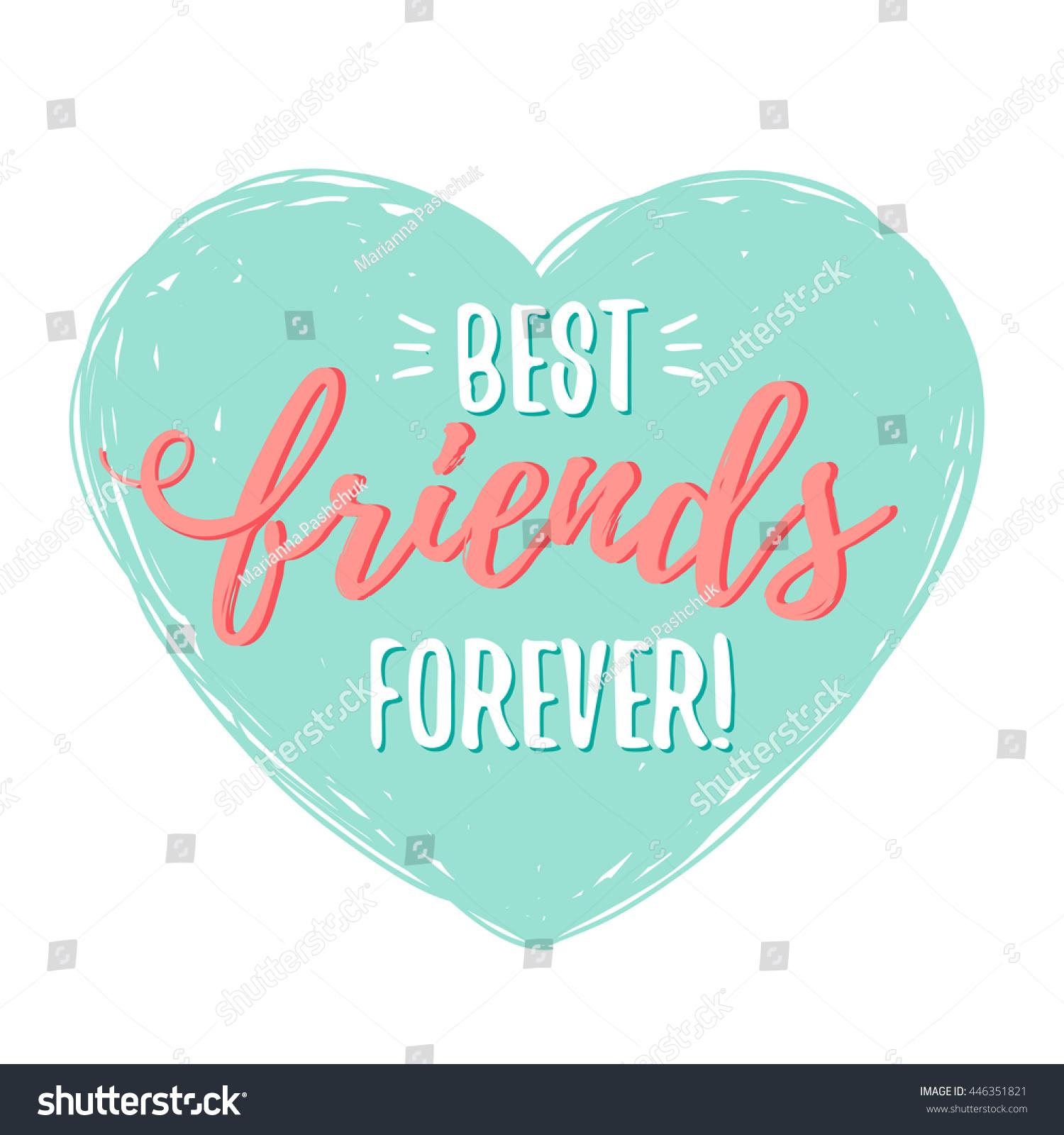 Best Friends Forever Heart Stock Vector 446351821 ...