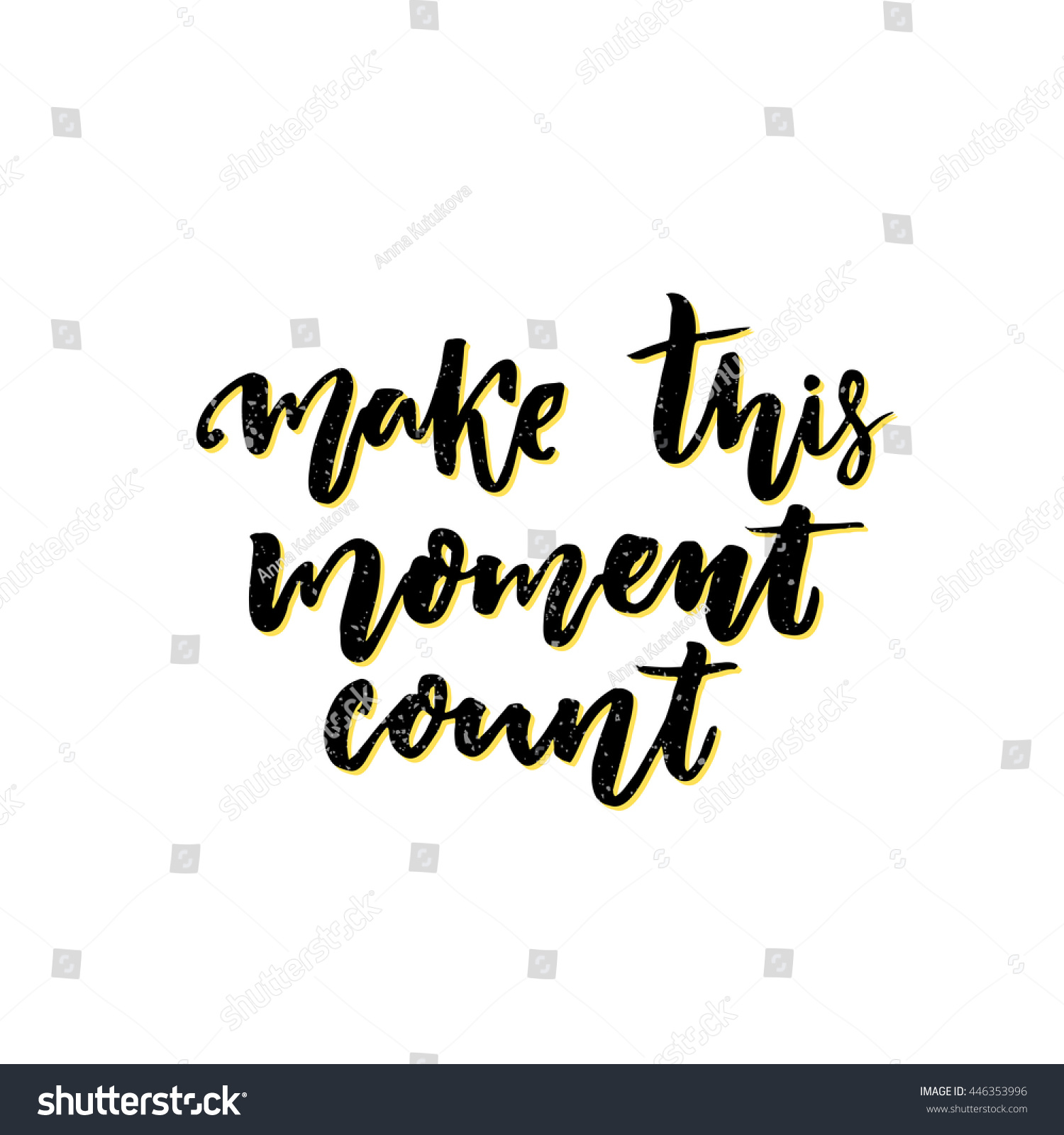 Latin Quotes About Friendship Make This Moment Count Inspirational Vector Stock Vector 446353996