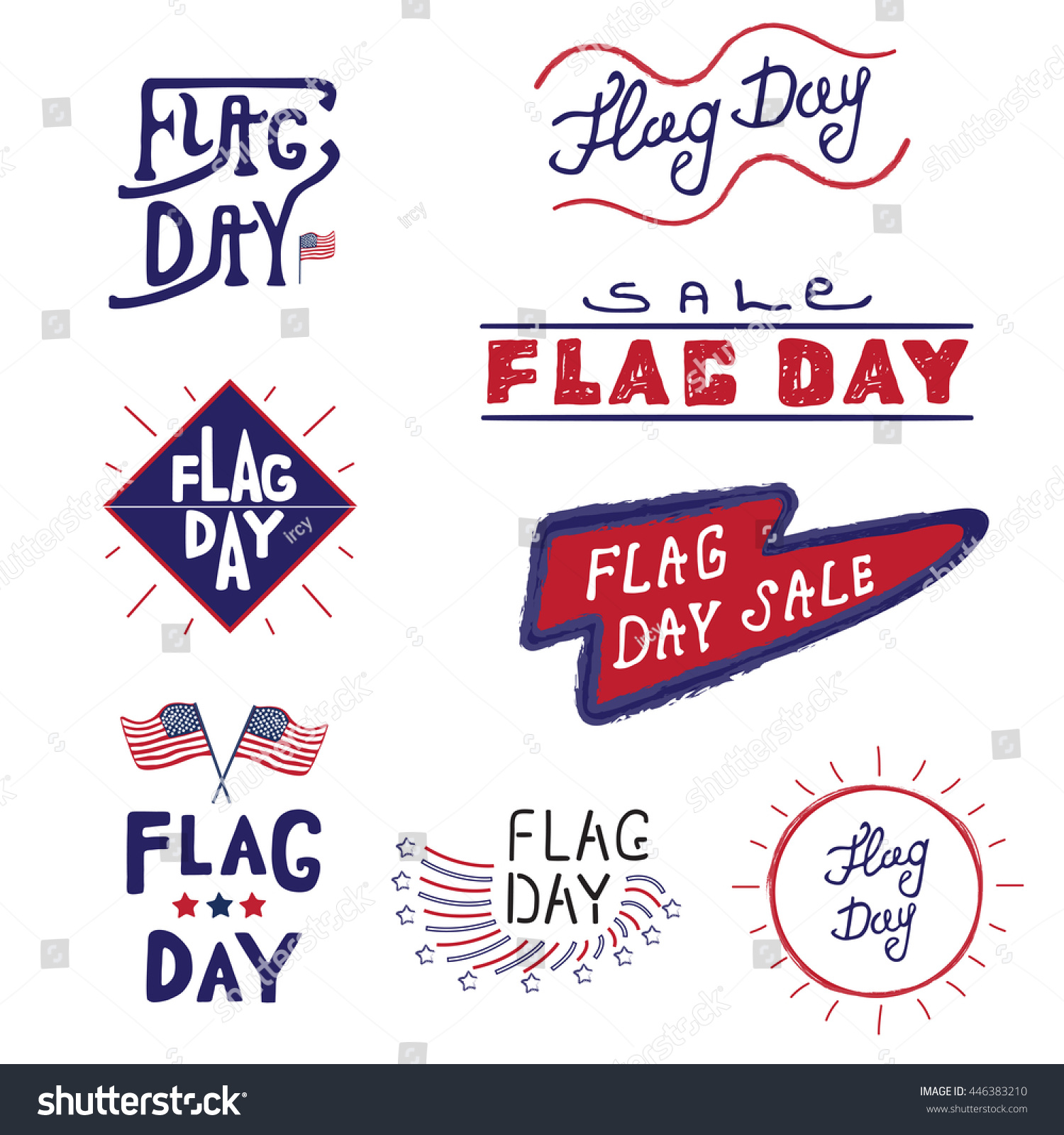 American logos labels flag day united stock illustration 446383210 american logos and labels flag day of the united states 4th of july greeting card kristyandbryce Images