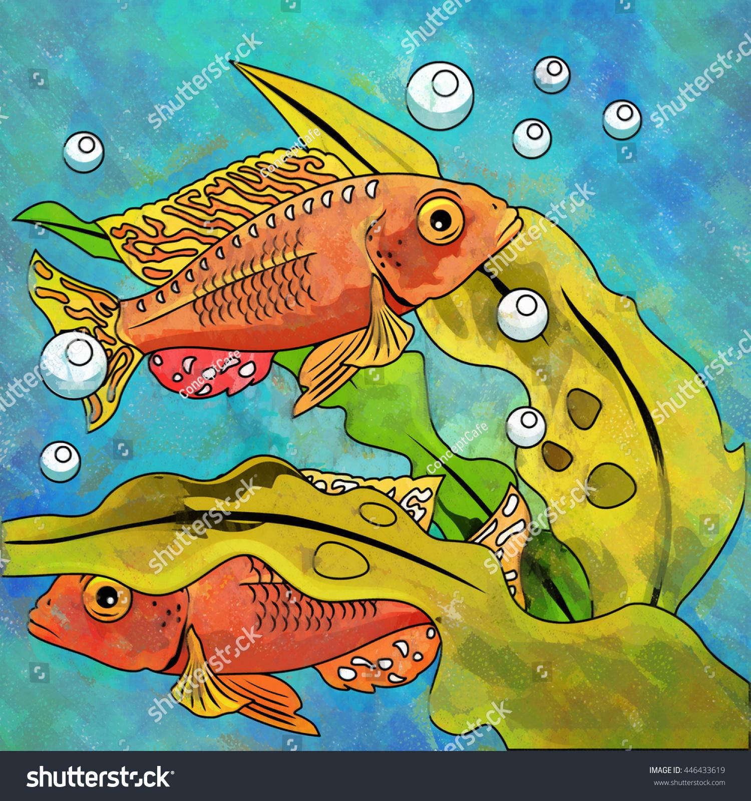 Colorful Aquarium Fishes Stock Illustration Shutterstock