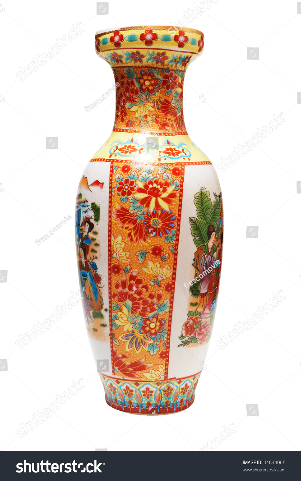 Antique japanese vase isolated on white stock photo 44644066 antique japanese vase isolated on white with clipping path reviewsmspy
