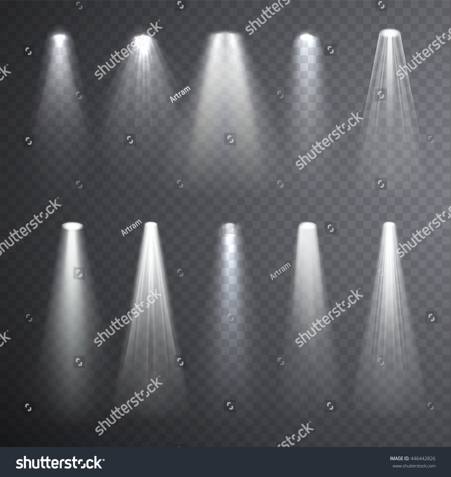 Bright White Light Beam Glowing Light Stock Vector