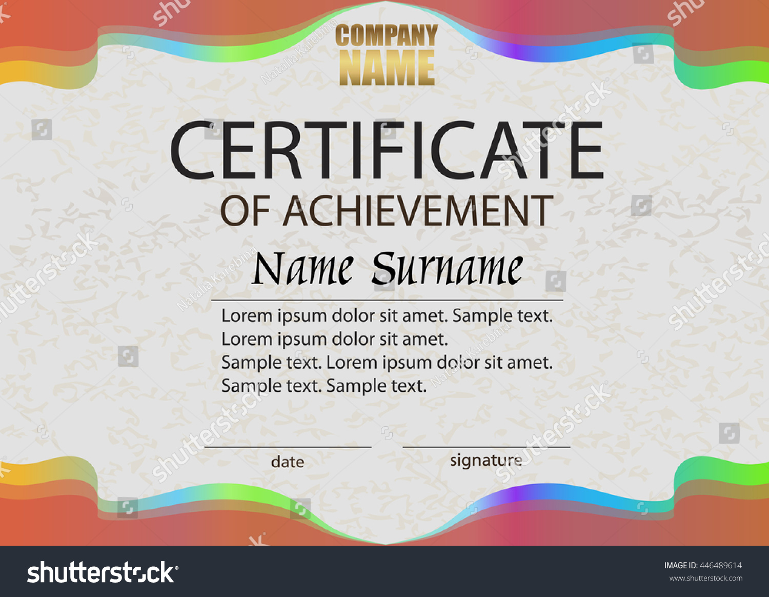Certificate achievement reward winning competition award stock certificate of achievement reward winning the competition award winner horizontal bright color yelopaper Images