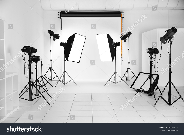 Empty Photo Studio Lighting Equipment Stock Photo 446494918 ...