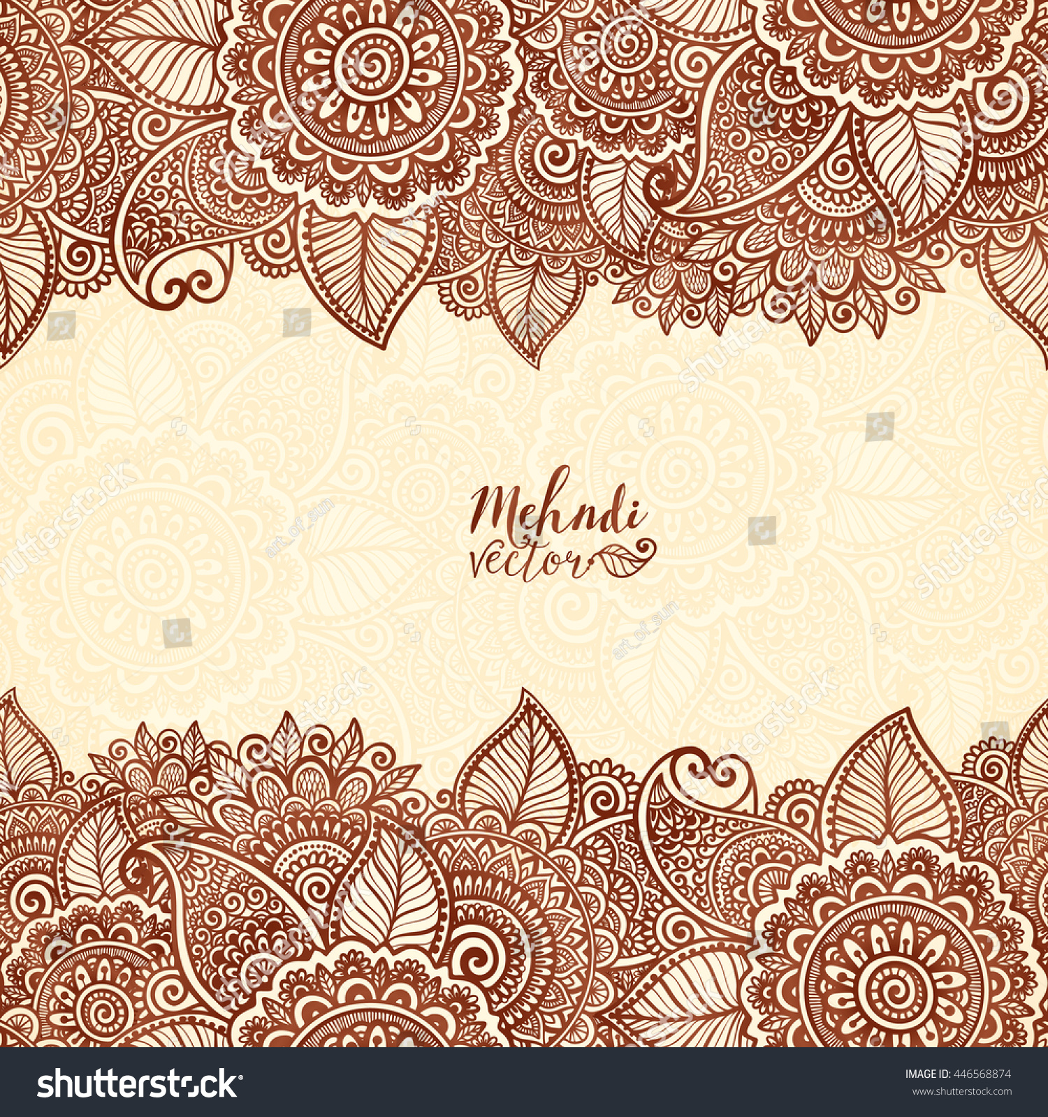 Henna Tattoo Colors: Henna Tattoo Colors Indian Style Vector Stock Vector