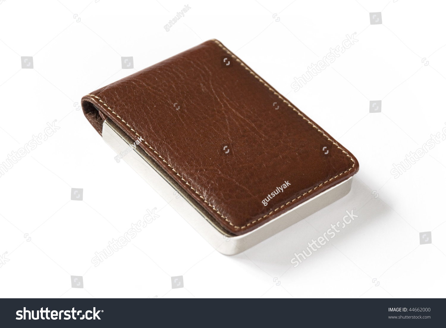 Luxury Business Card Holder Made Leather Stock Photo 44662000 ...