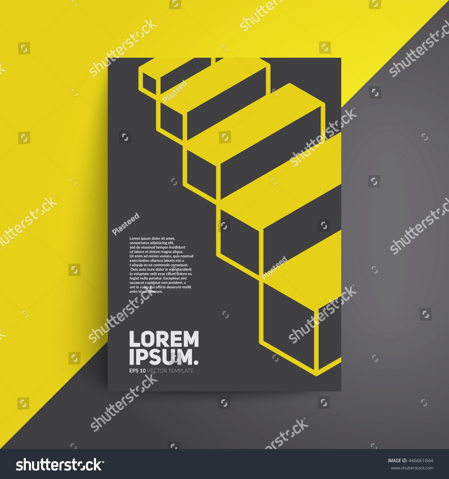 Architecture Book Cover Design ~ Isometric cover design architecture book vector stock