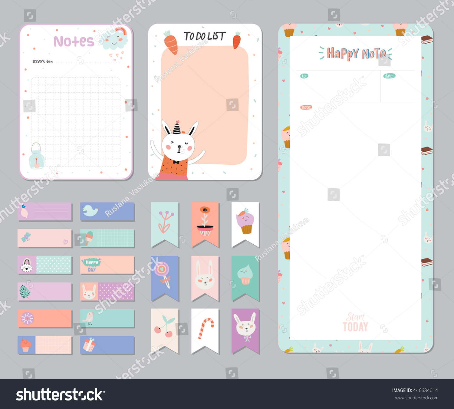 Calendar Planner Sample : Cute calendar daily weekly planner template stock vector