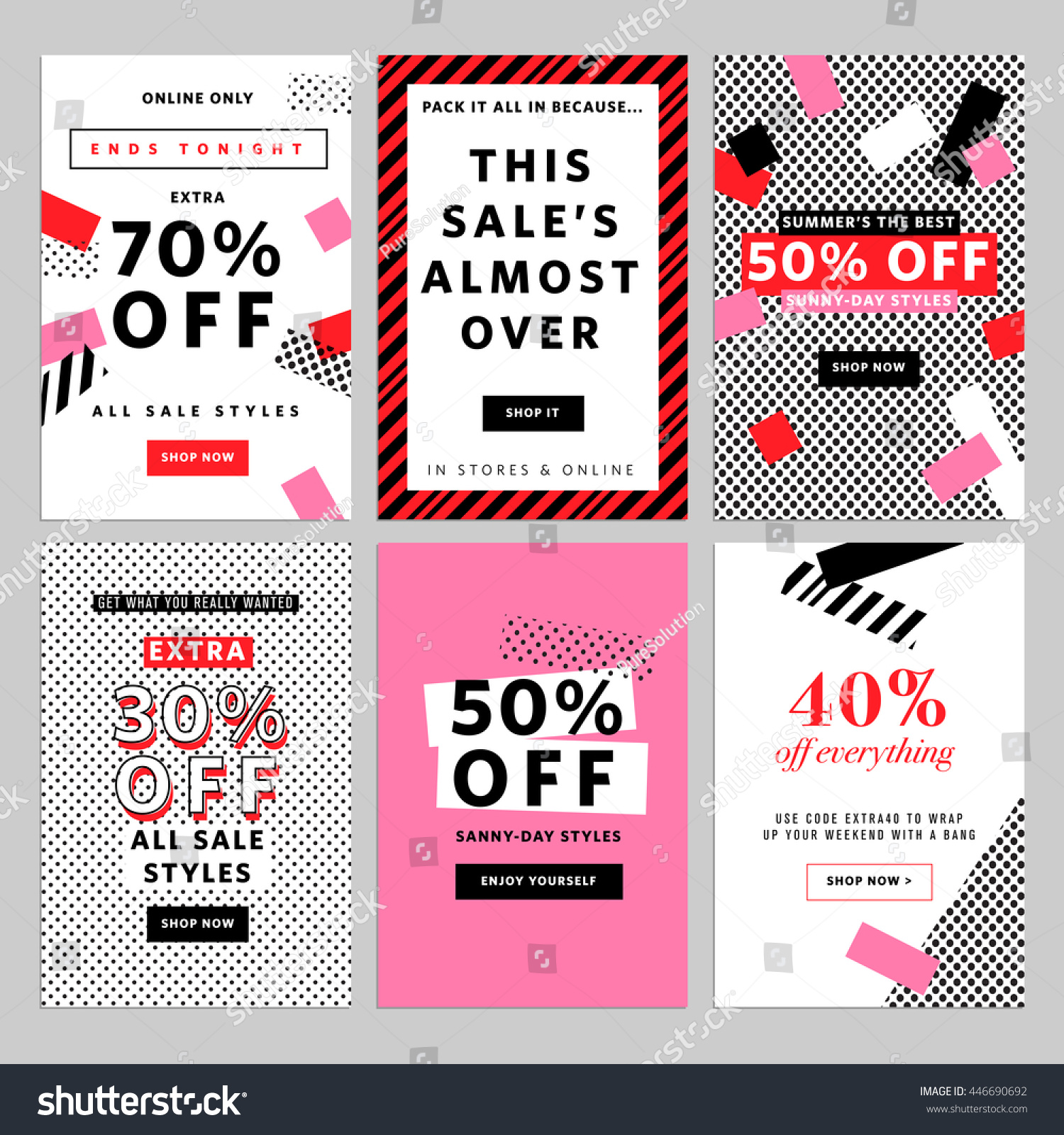 Social media banners online shopping vector stock vector for How to design online shopping website