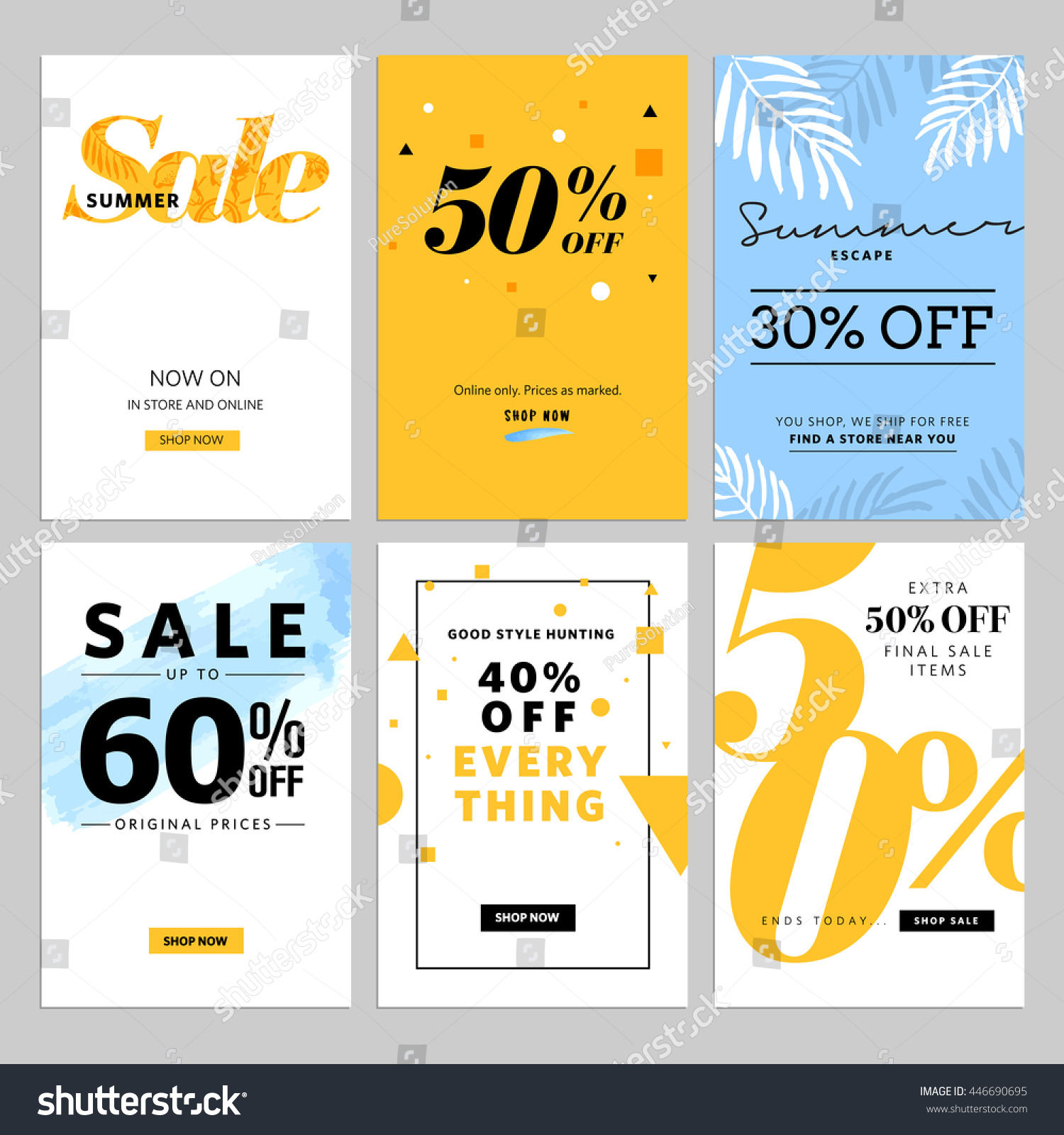 Social Media Sale Banners Ads Web Stock Vector Royalty Free