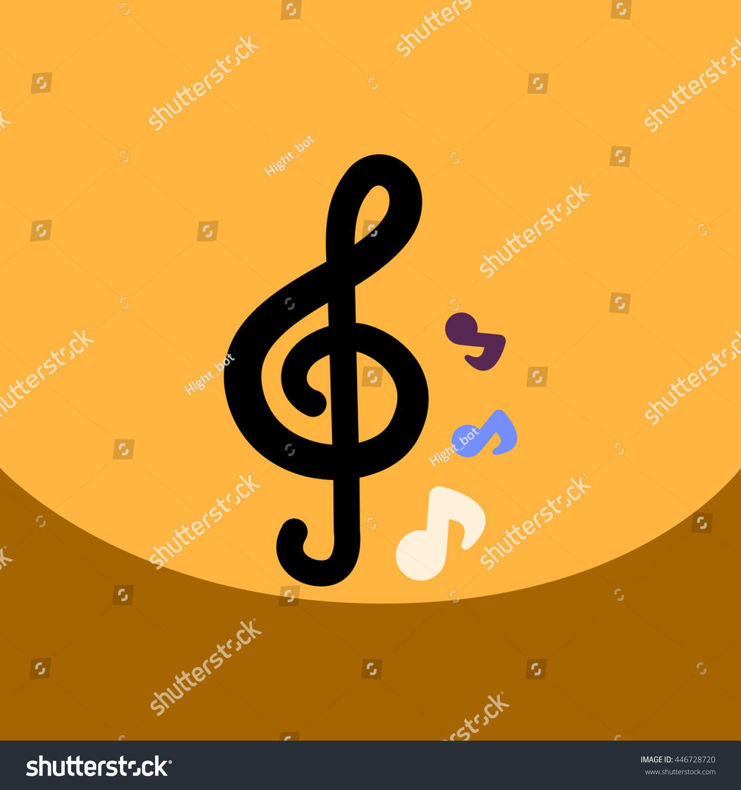 Flat Vector Icon Design Collection Music Stock Vector 446728720 ...