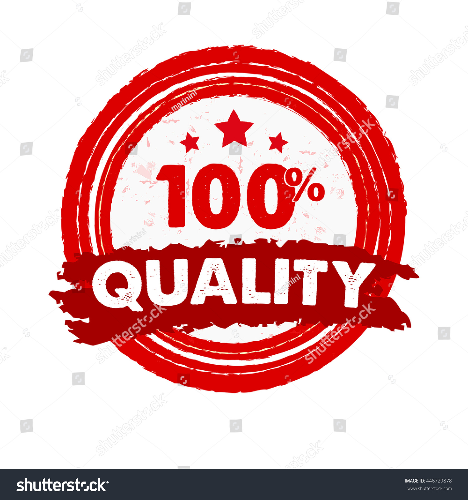 100 percentages quality stars text red stock vector 446729878 100 percentages quality and stars text in red grunge drawn round banner with symbol buycottarizona Image collections