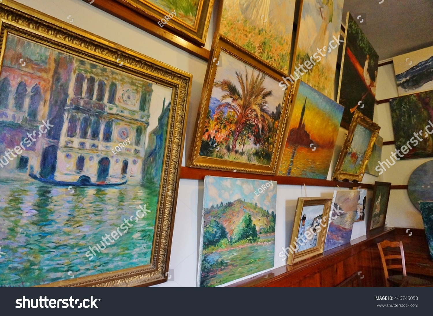 GIVERNY FRANCE 3 JULY 2016 House Stock Photo (Edit Now) 446745058 ...