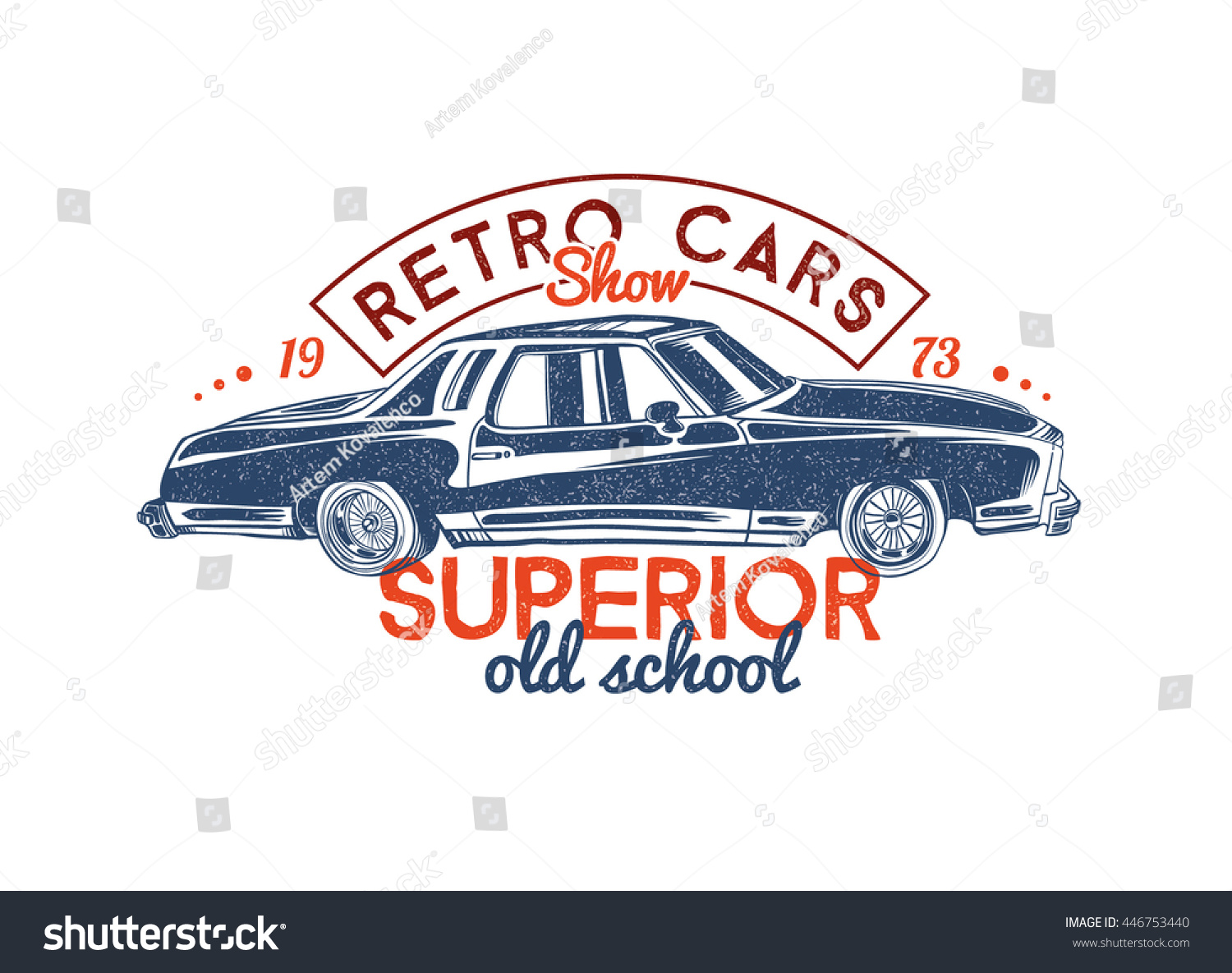 Vector Template Design Graphics Tshirt Print Stock Vector Royalty - Car show t shirt design template