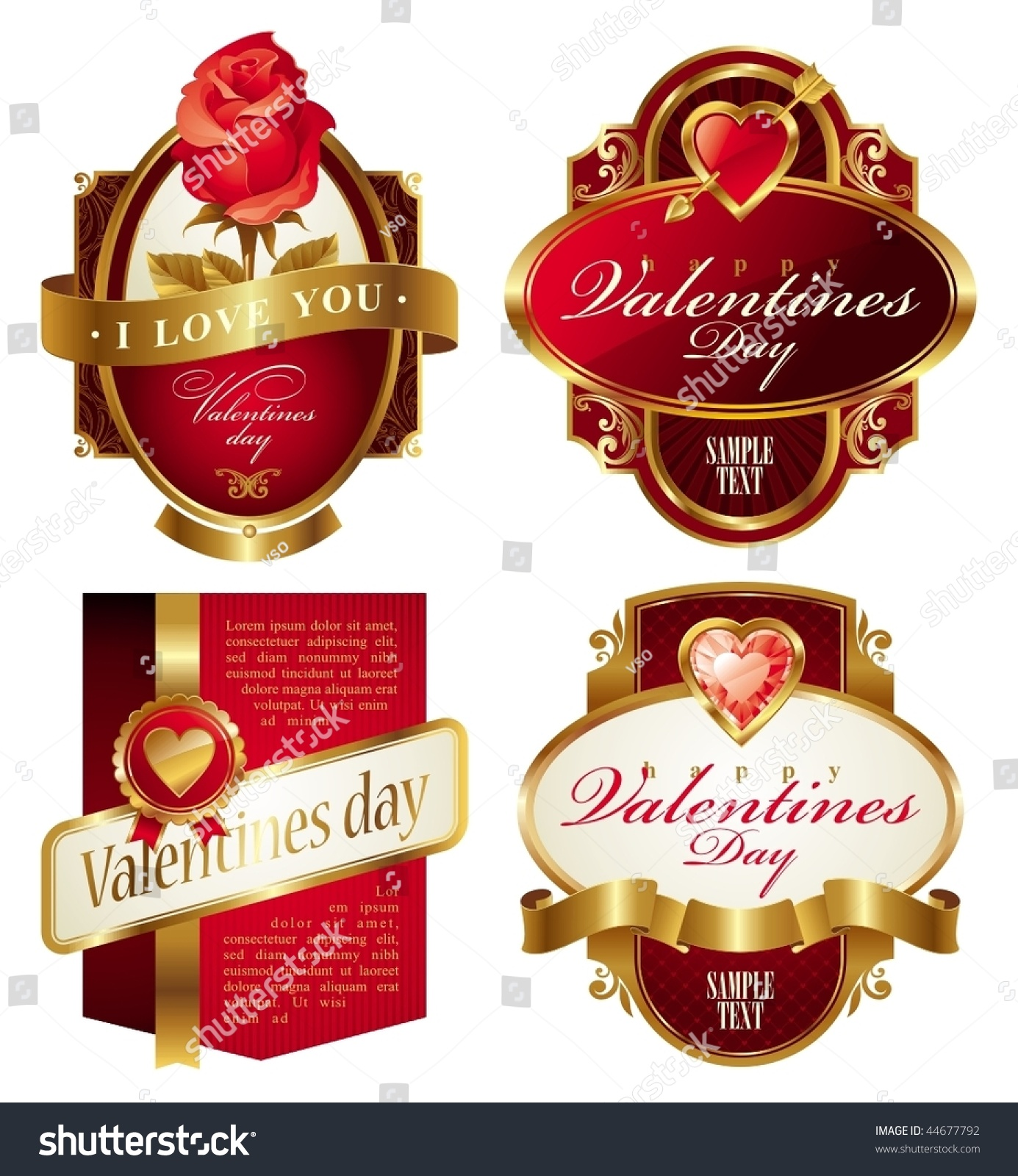 golden valentines frames with heart