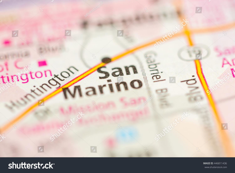 San Marino California Map.San Marino California Usa Stock Photo Edit Now 446811436