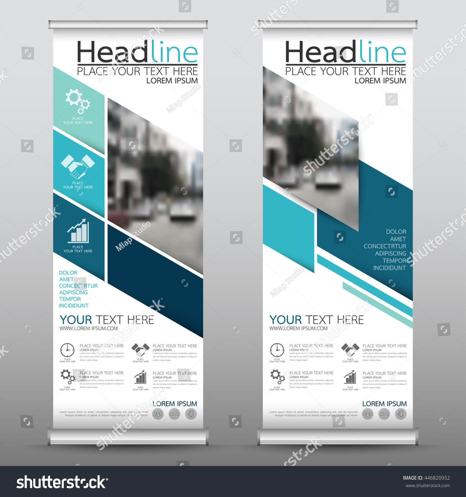 Green roll up business brochure flyer banner design vertical template - Blue Roll Up Business Brochure Flyer Banner Design Vertical Template Vector Cover Presentation Abstract Geometric