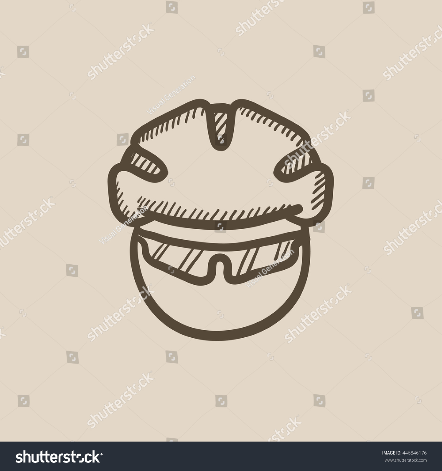 Man Bicycle Helmet Glasses Vector Sketch Stock Vector Royalty Free