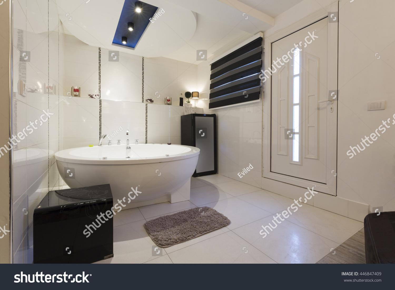 Hotel Bathroom Hydro Massage Bath Tub Stock Photo (Edit Now ...