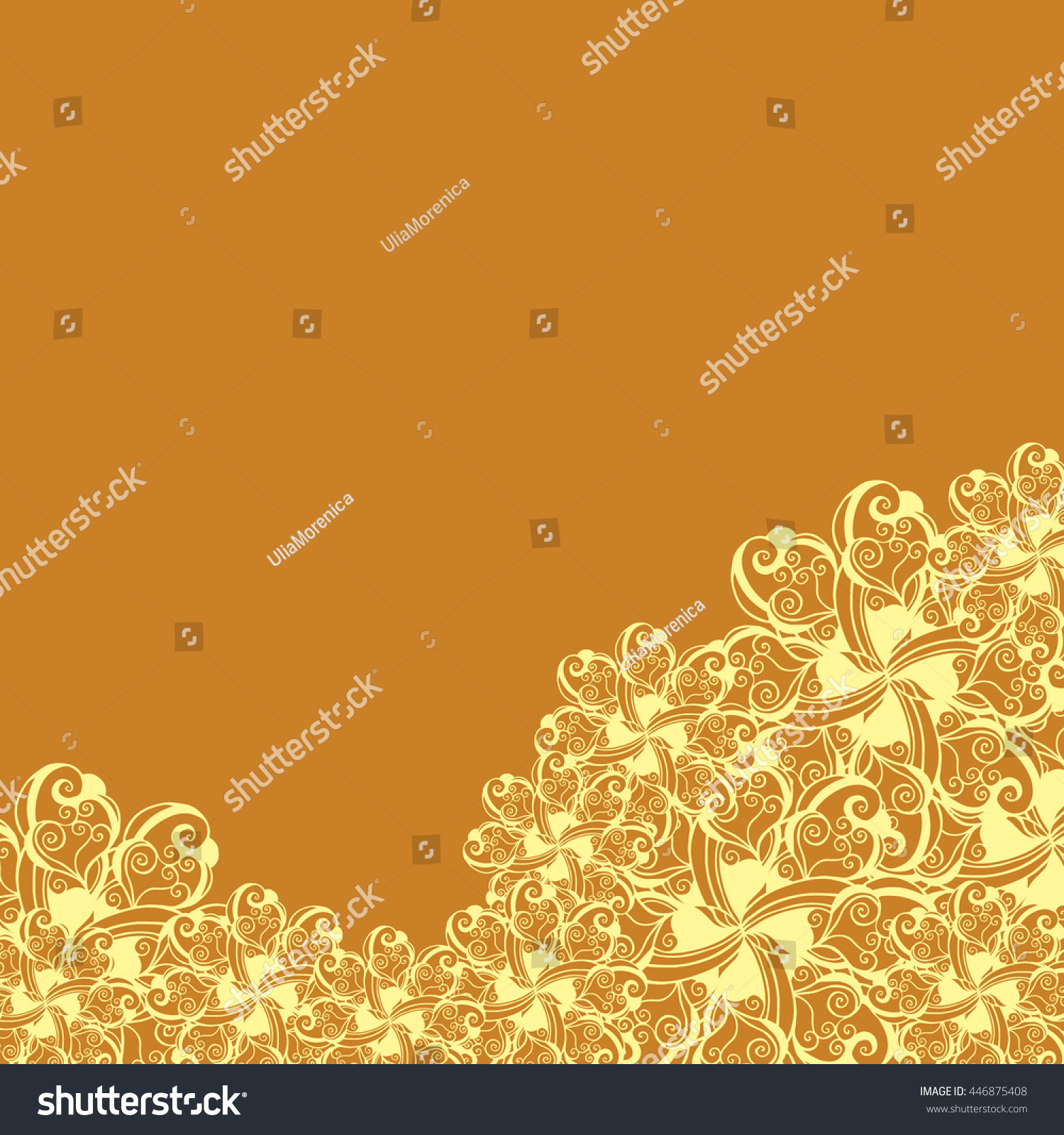 Abstract Handdrawn Creative Background Stylized Flowers Stock Vector