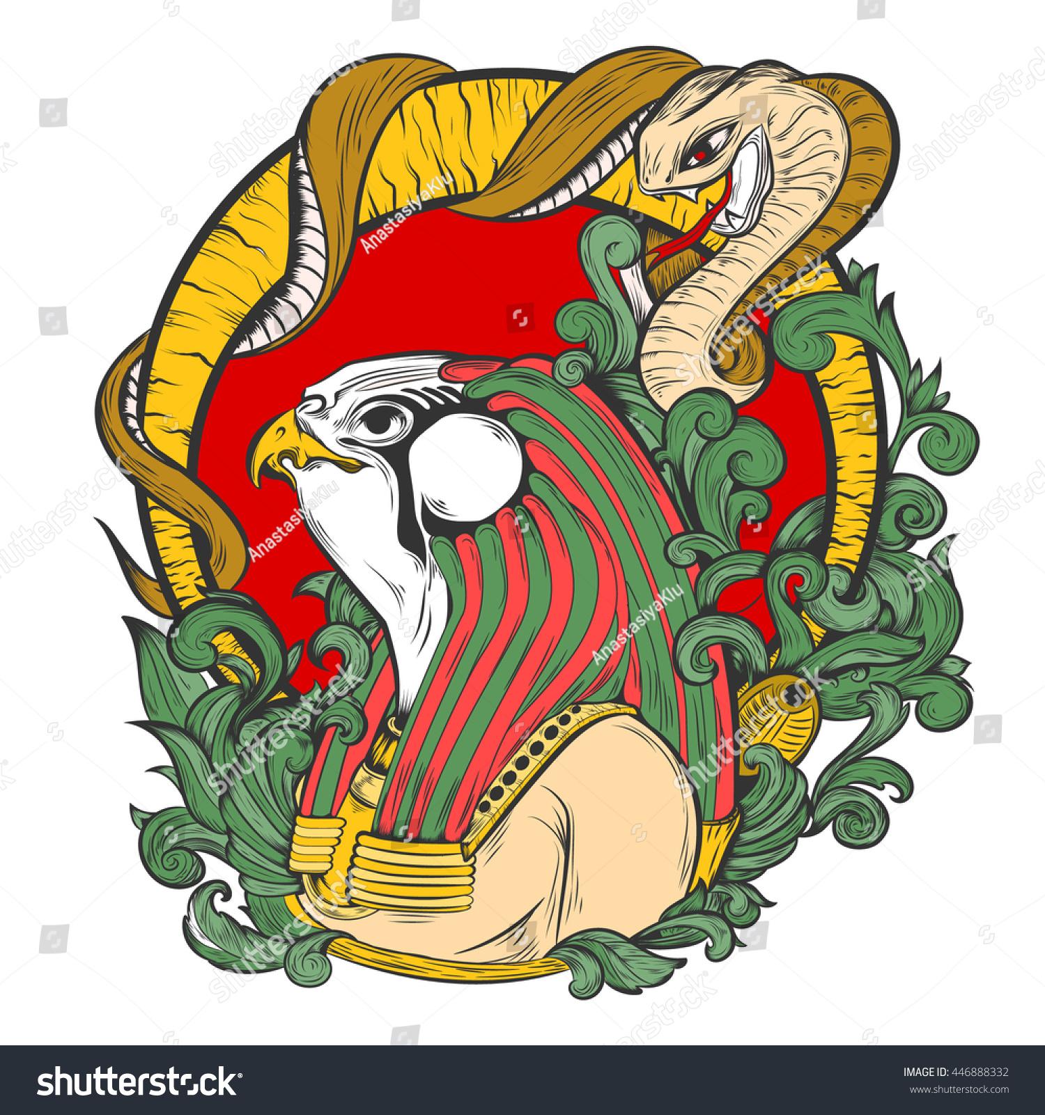 Vector illustration amon ra egyptian god stock vector 446888332 vector illustration of amon ra egyptian god with a snake buycottarizona