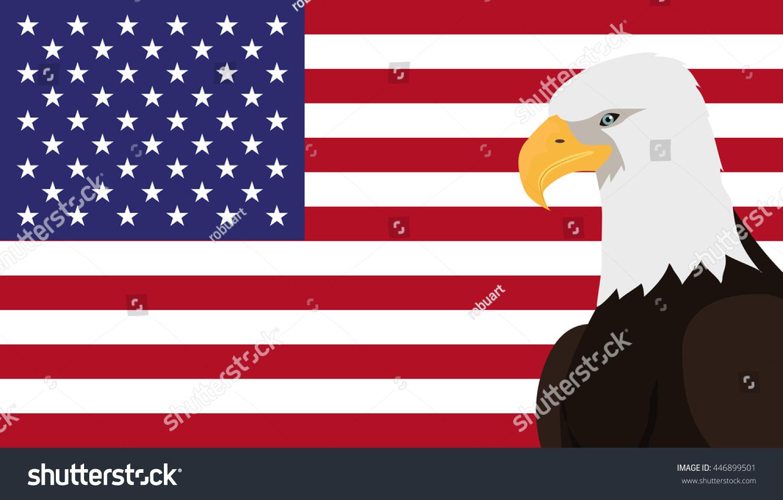 Bald Eagle Usa National Bird Symbol Stock Vector Royalty Free