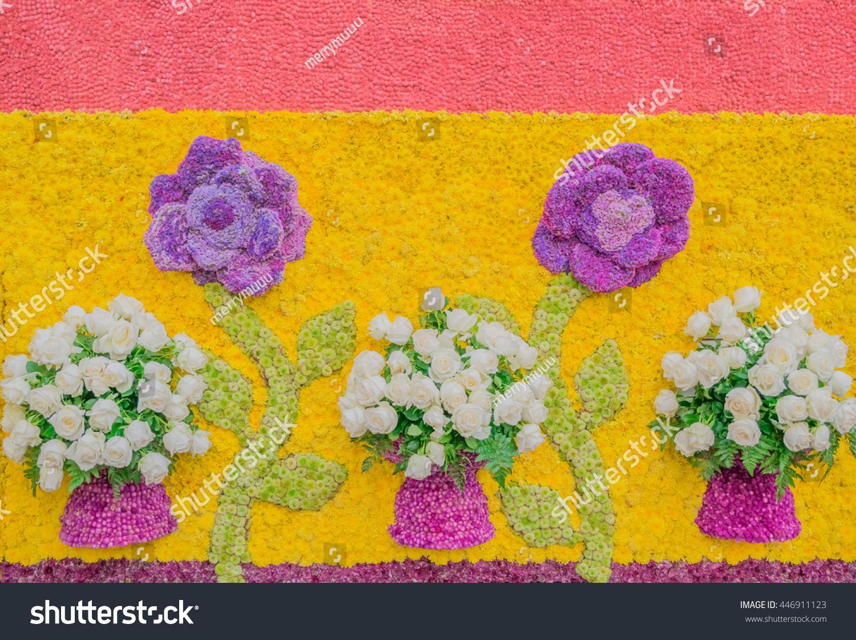 White Roses Decorative Vase Flowers Variety Stock Photo 446911123 ...