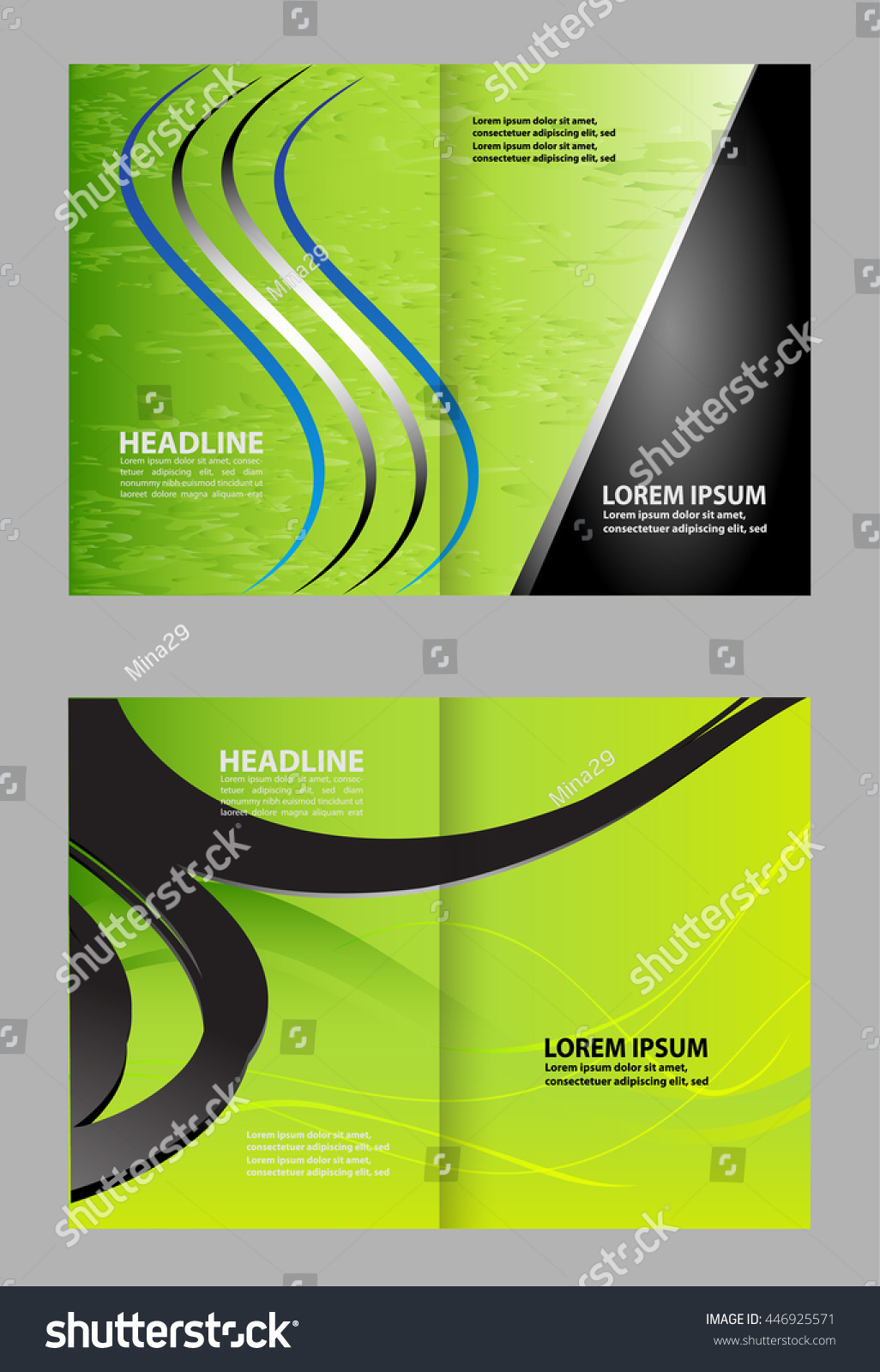 bi fold business brochure vector template stock vector 446925571 shutterstock. Black Bedroom Furniture Sets. Home Design Ideas